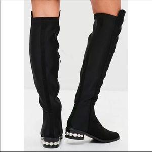 5085588c599 Catherine Malandrino Shoes - Catherine Malandrino Pearl Over-the-Knee Boot